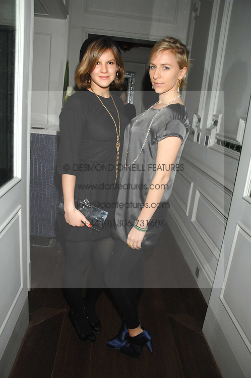 Left to right, sisters KATE SUMNER and MICKEY SUMNER at a party to launch the Dom Perignon OEotheque 1995 held at The Landau, Portland Place, London W1 on 26th February 2008.<br />