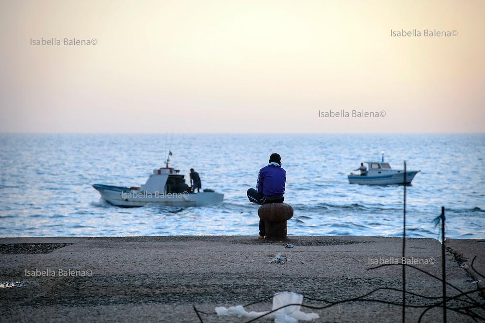 Lampedusa, Sicilia, ott 2013. Lampedusa Island, Sicily, Italy, oct 2013. Migrant.