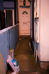 ©Licensed to London News Pictures 16/01/2020<br /> Croydon, UK. The flats front door. Metropolitan Police have launched a murder investigation after the body of 60 year old Krasimir Kartikov was found with multiple injuries on Monday 13th January at his flat in Croydon, South East London. Police are still on scene. Photo credit: Grant Falvey/LNP