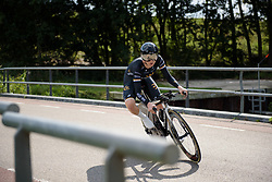 Amy Cure at Boels Rental Ladies Tour Stage 3 a 16.9 km individual time trial in Roosendaal, Netherlands on August 31, 2017. (Photo by Sean Robinson/Velofocus)