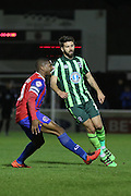 George Francomb midfielder for AFC Wimbledon (7) during the Sky Bet League 2 match between Dagenham and Redbridge and AFC Wimbledon at the London Borough of Barking and Dagenham Stadium, London, England on 19 April 2016. Photo by Stuart Butcher.