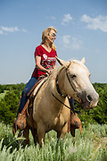 My wife Kay on a horse at Island Ranch in Ames, OK.