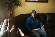 VALLEY GRANDE, AL – FEBRUARY 7, 2019: Maury Davis, 51, is seen in his home. On June 28, 1992, at age 12, Davis accidentally shot his best friend as the two were playing with a handgun in his family's Bronx apartment. The injury left his friend paralyzed for life. Despite the trauma, Davis and his friend, Jeff Williams, maintain an enduring friendship. CREDIT: Bob Miller for The New York Times