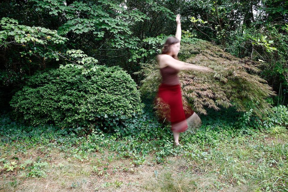 ADF Dance Scholar Alexis Mastromichalis, Durham, July, 2010.