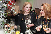 HOLLIDAY GRAINGER; HANNAH JEFFS, English National Ballet's celebrates their Christmas season at the London Coliseum,  St Martins Lane hotel. London. 13 December 2012.