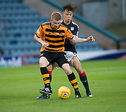 Alloa Athletic's Craig Malcolm holds off Dundee&rsquo;s Jesse Curran - Dundee under 20s v Alloa Athletic in the Irn Bru Cup Round 1 at Dens Park, Dundee - photograph by David Young<br /> <br />  - &copy; David Young - www.davidyoungphoto.co.uk - email: davidyoungphoto@gmail.com