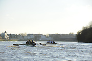 """London; GREAT BRITAIN; Oxford University Trial Eights for crew selection for 157th Boat Race Both crews in action, besides Dukes Meadows,  with Nurture taking a lead.  [April 2011]  raced over the Championship Course Putney to Mortlake  on the River Thames. Wednesday  08/12/2010   [Mandatory Credit; """"Photo, Peter Spurrier/Intersport-images].Crews.OUBC Nature; Surrey Station.Bow, Charlie AUER, 2. Tom WATSON, 3. Dan HARVEY, 4. David WHIFFIN, 5, Karl HUDSPITH, 6. Moritz HAFNER, 7. Ben MYERS, stroke. Constantine LOULOUDIS and cox Zoe DeTOLEDO...OUBC Nurture Middx Station [White Tops].Bow, George BLESSLEY, 2. Matt POINTING, 3. Alex WOODS, 4. Alex DENT, 5. Ben ELLISON,6. Simon HISLOP, 7. George WHITTAKER, Stroke Ben SNODIN and Cox Hannah LEADBETTER.."""