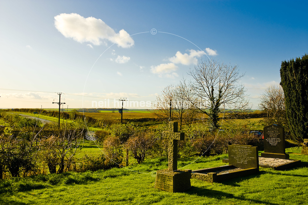 View across the Yorkshire Wolds from Garton church yard