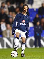Tottenham's Sam Cox  Tottenham Hotspur Vs Shakhtar Donetsk at White Hart Lane London England<br /> UEFA Cup Third Round Second Leg.<br /> 26/02/2009. Credit Colorsport  / Kieran Galvin