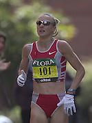 London Marathon, London, GREAT BRITAIN, location, Isle of Dogs. Race No. 00100 Paula Radcliffe. Narrow Street. E1. © Peter Spurrier/Intersport Image/+447973819551