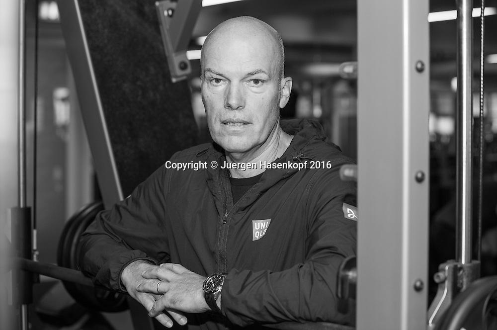 Gebhard Gritsch, Fitness Trainer<br /> <br /> Tennis - Dubai Duty Free Tennis Championships - ATP -   - Dubai -  - United Arab Emirates  - 26 February 2016. <br /> &copy; Juergen Hasenkopf