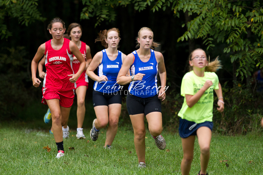 September/7/11:  MCHS Girls and Boys Cross Country at Fluvanna.  The girl's cross country team traveled to Fluvanna on Wednesday for a tri-meet with Fluvanna and Goochland.  The girls had a second place finish...Leading the Lady Mountainners with 4th and 5th place finishes were Katie Berry (23:47) and Caitlin Shilan (24:31).  They were followed by Sam Camilletti (27:29), Emily Carroll (28:55), Lauren Birkett (30:42), Ellen Berry (30:43), and Brooke Paramore (31:29).  Lauren Birkett's and Ellen Berry's hard push at the end to get in front of two Goochland runners contributed to the ladies second place finish.