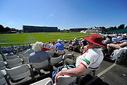 Perfect weather - Spectators bask in the sunshine under clear blue skies at the County Ground while watching the days play during the Specsavers County Champ Div 1 match between Somerset County Cricket Club and Hampshire County Cricket Club at the Cooper Associates County Ground, Taunton, United Kingdom on 26 May 2017. Photo by Graham Hunt.