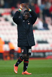 Max Gradel of Bournemouth applauds the fans - Mandatory by-line: Jason Brown/JMP - Mobile 07966 386802 12/03/2016 - SPORT - FOOTBALL - Bournemouth, Vitality Stadium - AFC Bournemouth v Swansea City - Barclays Premier League