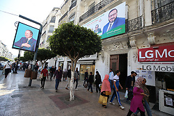 May 3, 2017 - Algiers, Algeria - The picture show the Election campaign posters for the upcoming parliamentary elections in Algiers, Algeria, on  3 May 2017  (Credit Image: © Billal Bensalem/NurPhoto via ZUMA Press)