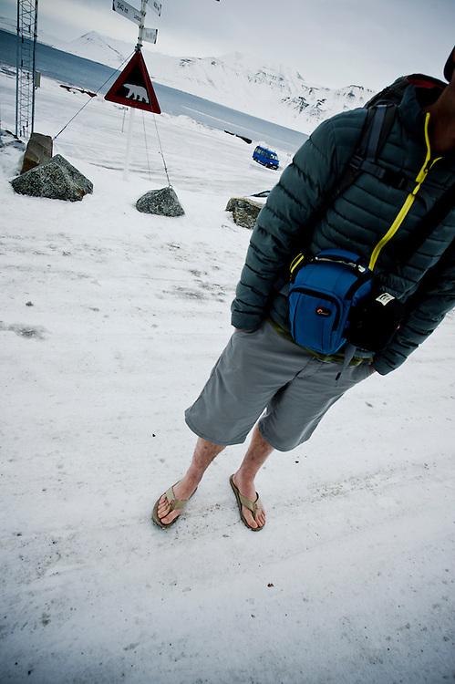 Chris Edmands, baggage-less in Svalbard.
