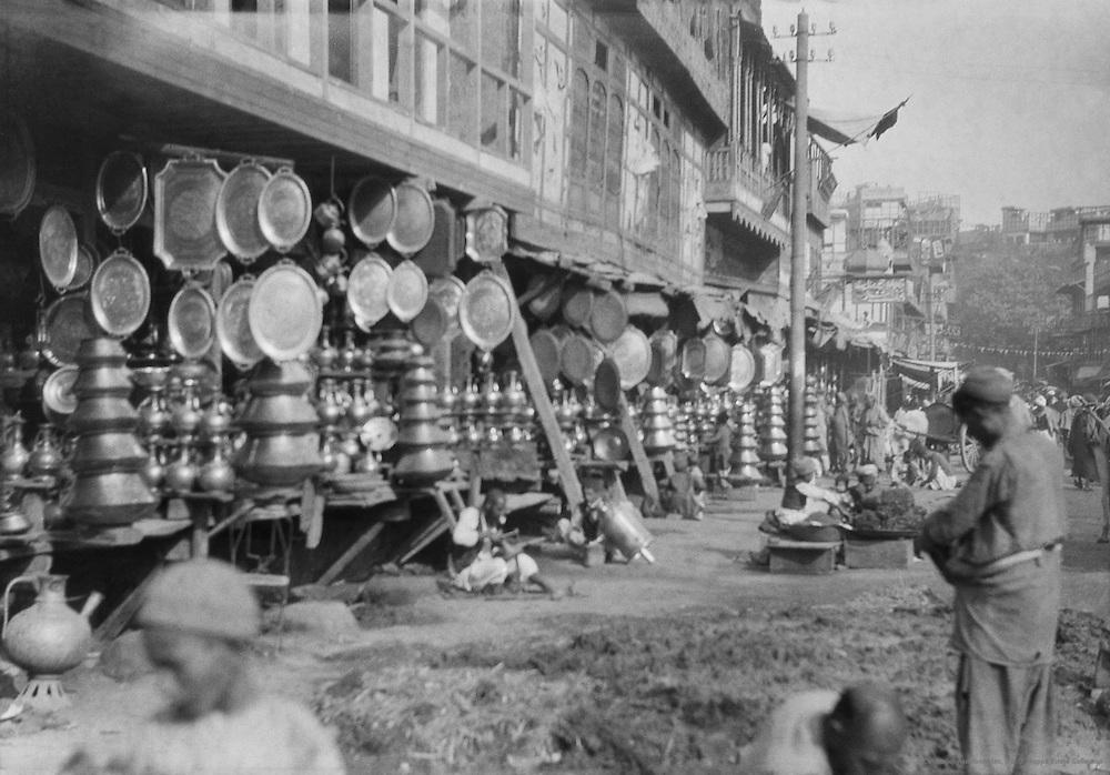 Copper Ware Street, Peshawar, India, 1929