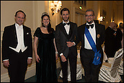 PRINCE DIMITRI  LOBANOV-ROSTOVSKY;  PRINCESS DIMITRI LOBANOV-ROSTOVSKY; RADOSLAV BLAGOEV; EVGENY MINCHEV The St. Petersburg Ball. In aid of the Children's Burns Trust. The Landmark Hotel. Marylebone Rd. London. 14 February 2015. Less costs  all income from print sales and downloads will be donated to the Children's Burns Trust.