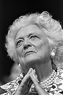 First Lady Barbara Bush..Scene from the Republican National Convention floor.