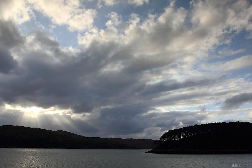 Sunset at Sheildaig, on Loch Torridon, north-west Highlands of Scotland