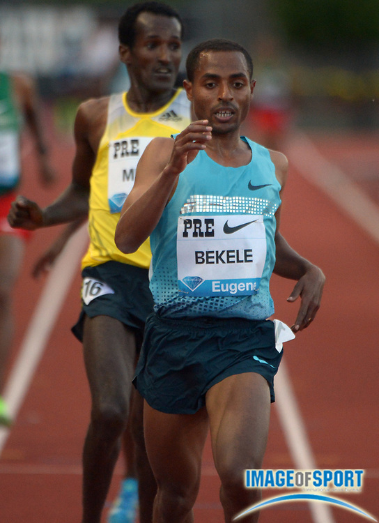 May 31, 2013; Eugene, OR, USA; Keninisa Bekele (ETH) wins the 10,000m in 27:12.08 in the 39th Prefontaine Classic at Hayward Field.