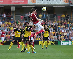 Nottingham Forest's Greg Halford heads the ball back  - Photo mandatory by-line: Nigel Pitts-Drake/JMP - Tel: Mobile: 07966 386802 25/08/2013 - SPORT - FOOTBALL -Vicarage Road Stadium - Watford -  Watford v Nottingham Forest - Sky Bet Championship