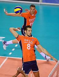 20150614 NED: World League Nederland - Finland, Almere<br /> De Nederlandse volleyballers hebben in de World League ook hun tweede duel met Finland gewonnen. Na de 3-0 zege van zaterdag werd zondag in Almere met 3-1 (22-25, 25-20, 25-13, 25-19) gewonnen / Bas van Bemmelen