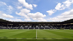 General view of the stadium before a pre season friendly match at Pride Park, Derby.