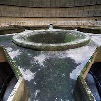 Power station cooling tower interior.