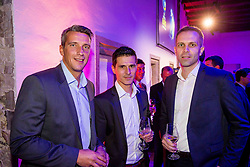Mile Acimovic, Mile Simeunovic and Dragan Perendija at Official dinner ahead to the UEFA Futsal EURO 2018 Draw, on September 28, 2017 in Ljubljanski grad, Ljubljana, Slovenia. Photo by Vid Ponikvar / Sportida
