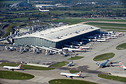 ©London News pictures...  .Generic file aerial picture of London Heathrow Airport in West London. Terminal 5