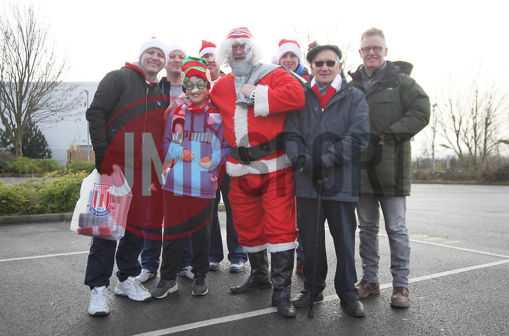 Santa and Stoke fans before the match - Mandatory by-line: Jack Phillips/JMP - 17/12/2016 - FOOTBALL - Bet365 Stadium - Stoke-on-Trent, England - Stoke City v Leicester City - Premier League