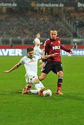 08.03.2014, easyCredit Stadion, Nuernberg, GER, 1. FBL, 1. FC Nuernberg vs SV Werder Bremen, 24. Runde, im Bild Aleksandar Ignjovski (Werder Bremen / links) kann Adam Hlousek (1 FC Nuernberg / rechts) mit einer Graetsche vom Ball trennen Duell, Zweikampf, Action / Aktion // during the German Bundesliga 24th round match between 1. FC Nuernberg and SV Werder Bremen at the easyCredit Stadion in Nuernberg, Germany on 2014/03/08. EXPA Pictures © 2014, PhotoCredit: EXPA/ Eibner-Pressefoto/ Merz<br /> <br /> *****ATTENTION - OUT of GER*****