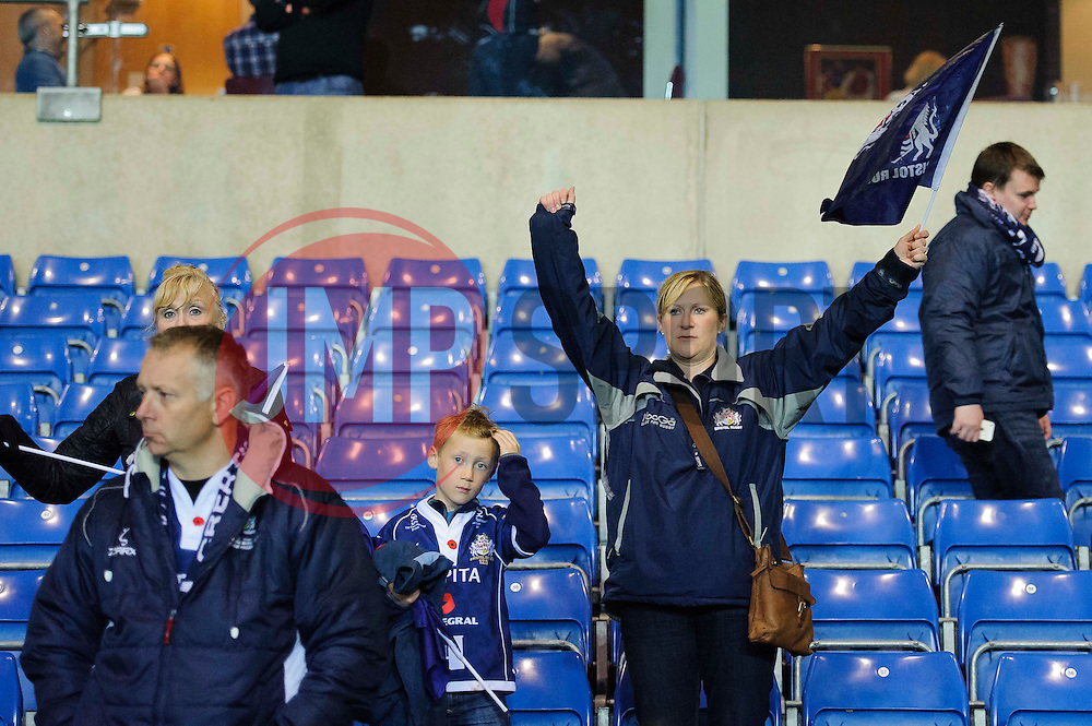 Bristol supporters applaud their team after the match despite them losing and taking a 19 point defecit into the second leg - Photo mandatory by-line: Rogan Thomson/JMP - 07966 386802 - 28/05/2014 - SPORT - RUGBY UNION - Kassam Stadium, Oxford - London Welsh v Bristol Rugby - Greene King IPA Championship Play Off Final First Leg.