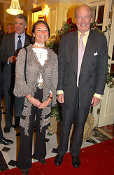 at a party to say goodbye to Ian Goring and hello to his son Jeremy Goring as MD of the Goring Hotel,Beeston Place, London on 2nd March 2005.<br />