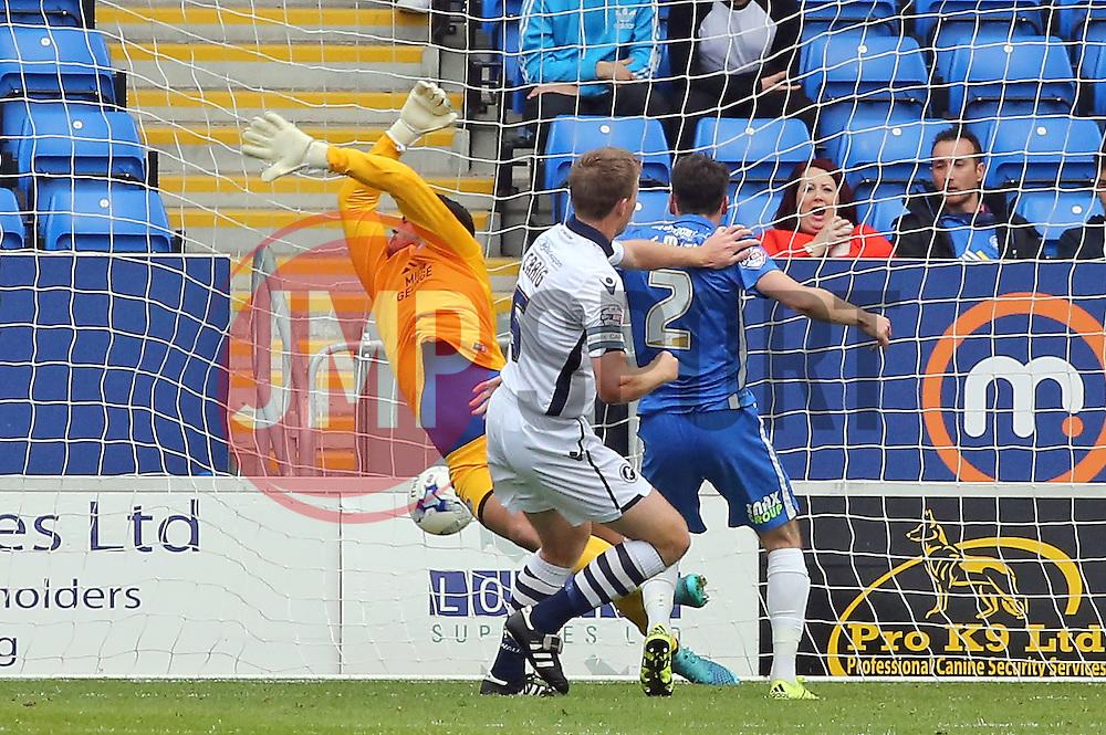 Tony Craig of Millwall scores the equalising goal - Mandatory byline: Joe Dent/JMP - 07966 386802 - 03/10/2015 - FOOTBALL - ABAX Stadium - Peterborough, England - Peterborough United v Millwall - Sky Bet League One