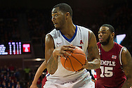 DALLAS, TX - FEBRUARY 19: Markus Kennedy #5 of the SMU Mustangs drives to the basket against the Temple Owls on February 19, 2015 at Moody Coliseum in Dallas, Texas.  (Photo by Cooper Neill/Getty Images) *** Local Caption *** Markus Kennedy