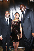 l to r: Gary Lambert, President of B.R.A.G, Tatiana Ali and Magic Johnson at The B.R.A.G 39th Annual Scholarship and Awards Dinner Gala held at Cipriani Wall Sreet on October 23, 2009 in New York City...BRAG mission is to be the leading provider of resources and development suppoert that empowers African Americans to reach their highiest professional potential in retail and related industries