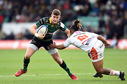 James Grayson of Northampton Saints in possession - Mandatory byline: Patrick Khachfe/JMP - 07966 386802 - 12/01/2020 - RUGBY UNION - Franklin's Gardens - Northampton, England - Northampton Saints v Benetton Rugby - Heineken Champions Cup