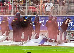 07.05.2011, Commerzbank-Arena, Frankfurt, GER, 1. FBL, Eintracht Frankfurt vs 1.FC Koeln, im Bild die Werbebande wurde zerlegt, EXPA Pictures © 2011, PhotoCredit: EXPA/ nph/  Roth       ****** out of GER / SWE / CRO  / BEL ******