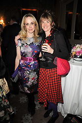 Left to right, ZANDY FORBES and CATHERINE FITZGERALD at a party to celebrate Penguin's reissue of Nancy Mitford's 'Wigs on The Green' hosted by Tatler at Claridge's, Brook Street, London on 10th March 2010.