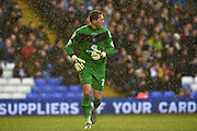 Birmingham City goalkeeper Tomasz Kuszczak (29) during the Sky Bet Championship match between Birmingham City and Sheffield Wednesday at St Andrews, Birmingham, England on 6 February 2016. Photo by Jon Hobley.