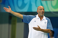 Australian coach John Fox during the Australia v Montenegro match at the ..Yingdong Natatorium of National Olympic Sports Center 18-8-08   ..Photo: Grant Treeby/WSP