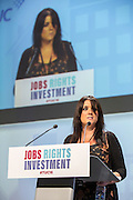 Tracy Boyce speaking at the TUC congress 2016, Brighton. UK.