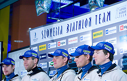 Joze Mehle, Vasja Rupnik, Janez Maric, Klemen Bauer and Peter Dokl at press conference of Slovenian Biathlon National Team before new season 2008/2009, on November 24, 2008 in Emporium, BTC, Ljubljana, Slovenia.  (Photo by Vid Ponikvar / Sportida)
