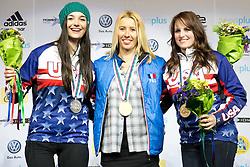 HERNANDEZ-CERVELLON Cecile, HUCKABY Brenna, ROUNDY Nicole, Banked Slalom, 2015 IPC Snowboarding World Championships, La Molina, Spain