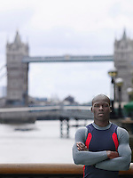 Man standing in front of Tower Bridge England London
