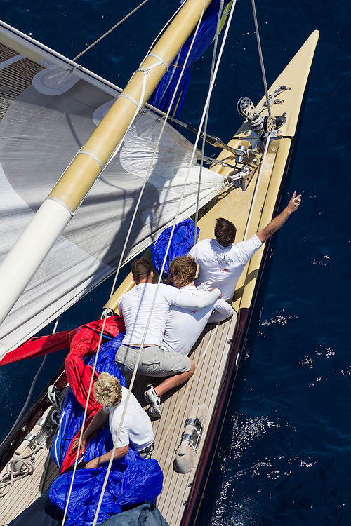 SPAIN, Palma. 21st June 2013. Superyacht Cup. J Class. Race three, coastal race. Velsheda.
