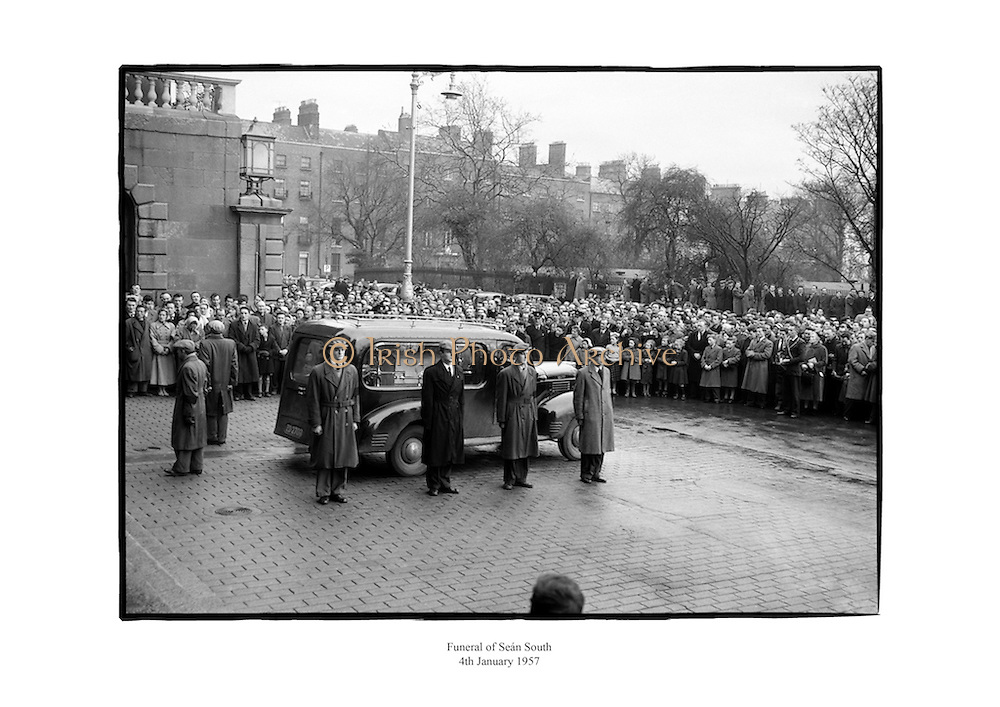 Funeral of Seán South.<br />