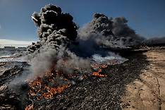 Iraq - Oil Fires Of Qayyara - 23 Nov 2016